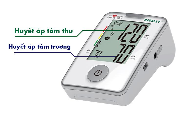 Cách đọc chỉ số máy đo huyết áp Medally